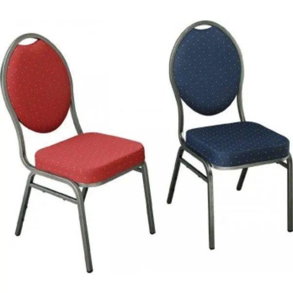 Gestoffeerde stoelen blauw
