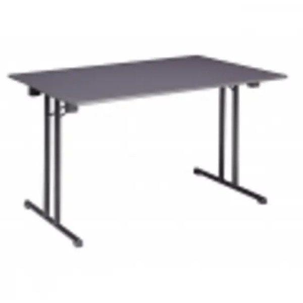Klaptafels tafel 120 x 80 cm ahornblad met chromen frame